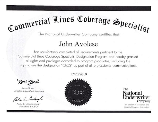 Avolese Insurance Agency - Personal Insurance, Business ...